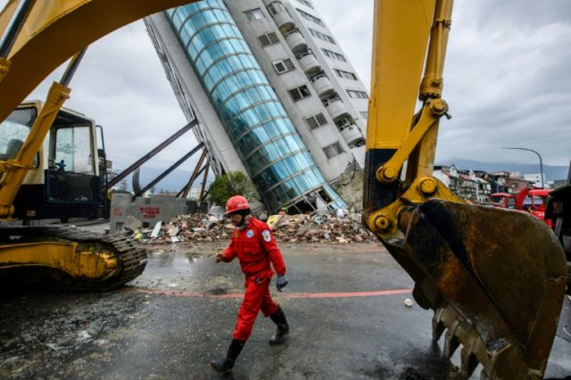 The lower floors of the 12-storey Yun Tsui residential building pancaked when a 6.4-magnitude quake struck the tourist hotspot of Hualien