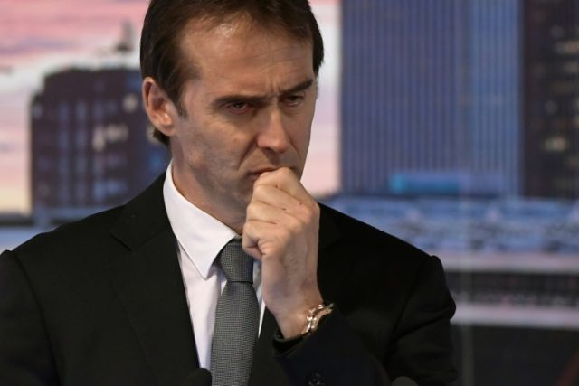 Tearful: Real Madrid´s newly-appointed coach Julen Lopetegui