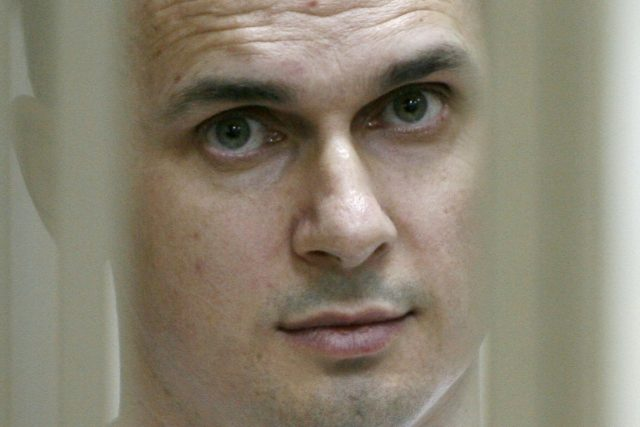 Thirty-eight countries have written a letter to the UN chief asking him to raise with Vladimir Putin the case of jailed Ukranian film director Oleg Sentsov, pictured here in July 2015 at a Russian military court