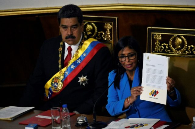 Venezuelan President Nicolas Maduro (L) has appointed Delcy Rodriguez (R) as his vice president