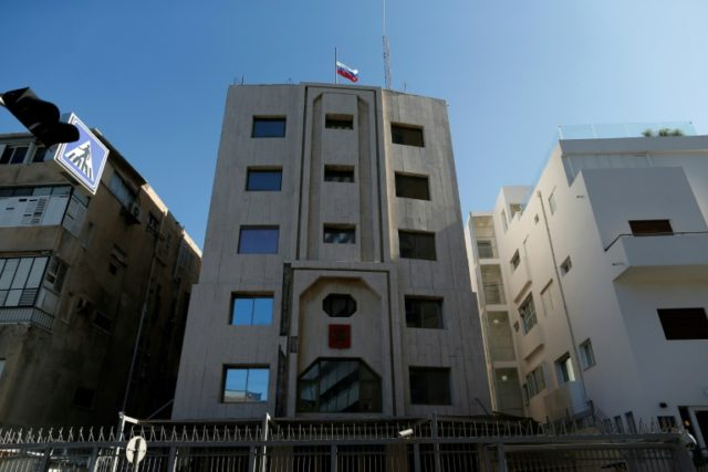 The Russian embassy in Tel Aviv