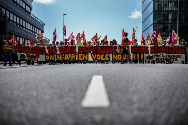 The CGT Cheminots union and others have been striking every few days since early April over President Emmanuel Macron's controversial rail reforms