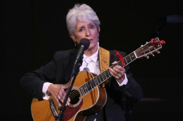 Folk icon Joan Baez can't get past Paris nightclub doorman