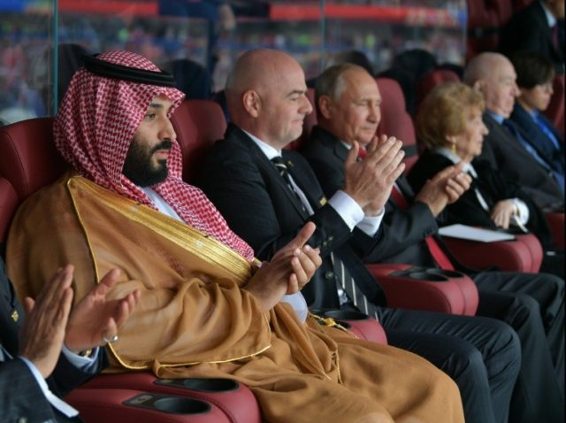 No apologies from Vladimir Putin to Saudi Crown Prince Mohammed bin Salman after Russia ran riot in Thursday's opener