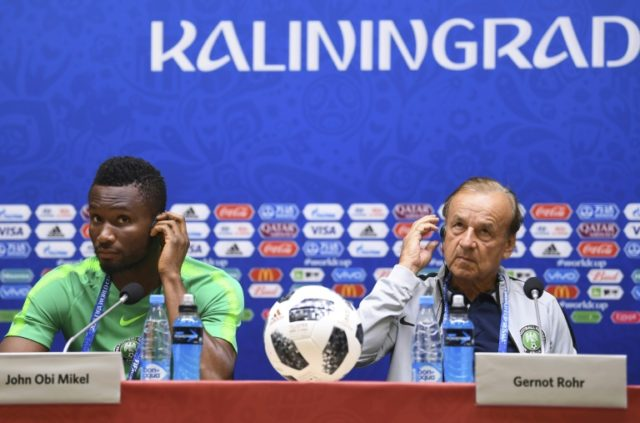Nigeria coach Gernot Rohr downplays threat of racism, pointing out his captain John Obi Mikel's wife is Russian