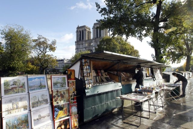 """The open-air booksellers, or """"bouquinistes"""", in Paris are hoping to get France's Culture Ministry to back their push to be named an UNESCO world treasure"""