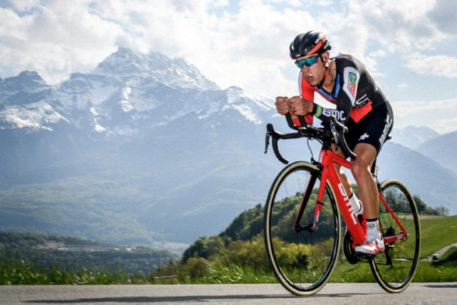 Australian Richie Porte from BMC Racing team is in a good position to win the Tour of Suisse