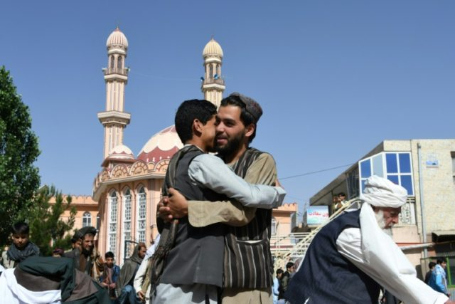 Afghan Muslims were celebrating their first peaceful Eid since 2001