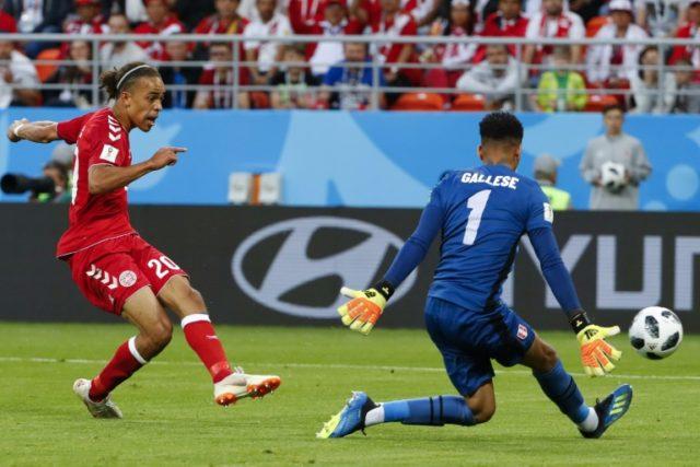 Yussuf Poulsen scored a valuable goal for Denmark