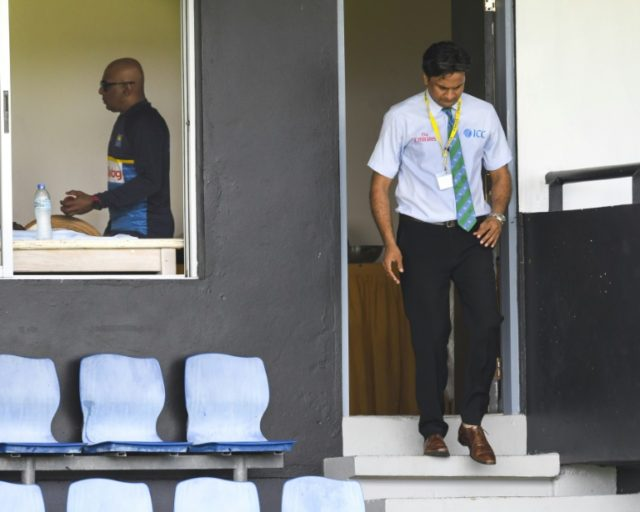 Match Referee Javagal Srinath visited the Sri Lanka dressing room after the visiting team delayed taking the field on the third day of the second Test against West Indies in Saint Lucia.
