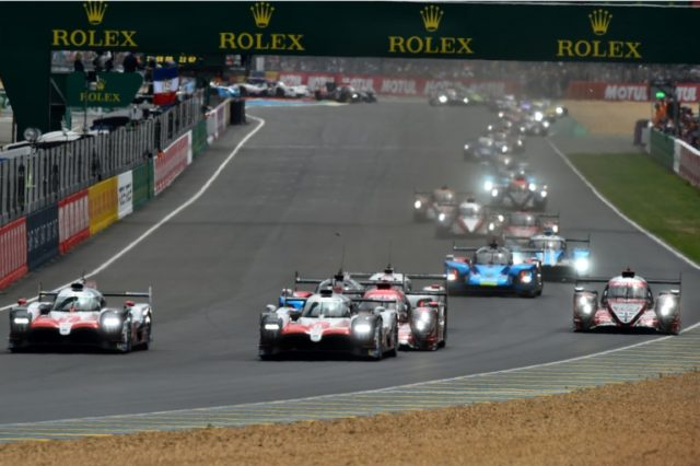 The two Toyotas took the lead at the start of the 24 Hours of Le Mans