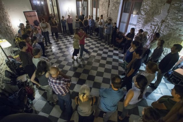 "Montevideo, a birthplace of tango, is trying to revive the dance's popularity with ""milongas"" like this one for the curious and uninitiated"