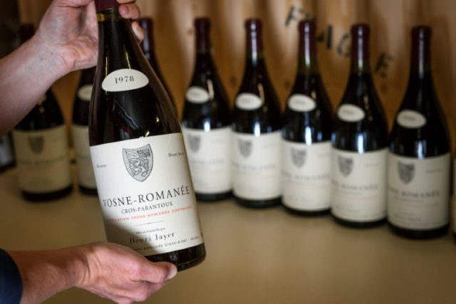The wines to be auctioned off next month include Cros-Parantoux Vosne-Romanee Premier Cru, which ranks among the world's priciest drops