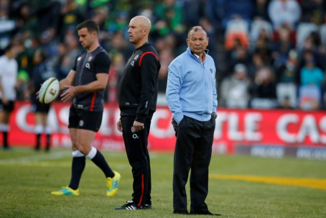 Backs to the wall: England coach Eddie Jones feels the pressure on Saturday