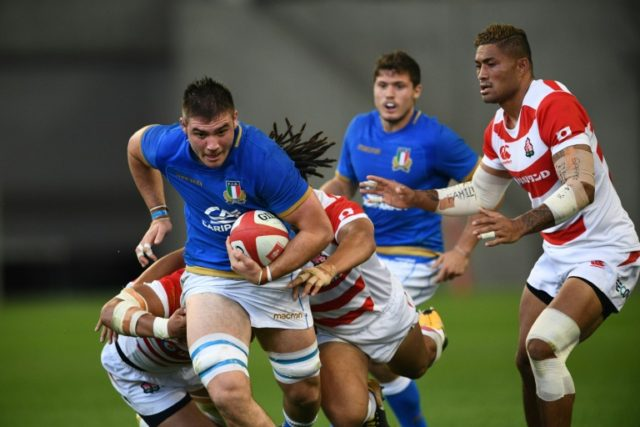 Italy's number eight Jake Polledri was among the try-scorers.