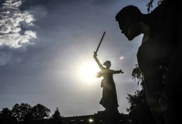 """The Motherland Calls"" statue in Volgograd"