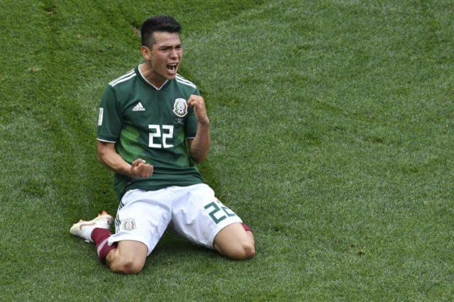 Hirving Lozano scored the goal that sent defending champions crashing to defeat