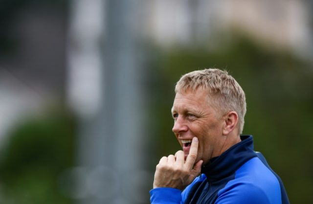 Iceland coach Heimir Hallgrimsson takes a World Cup training session