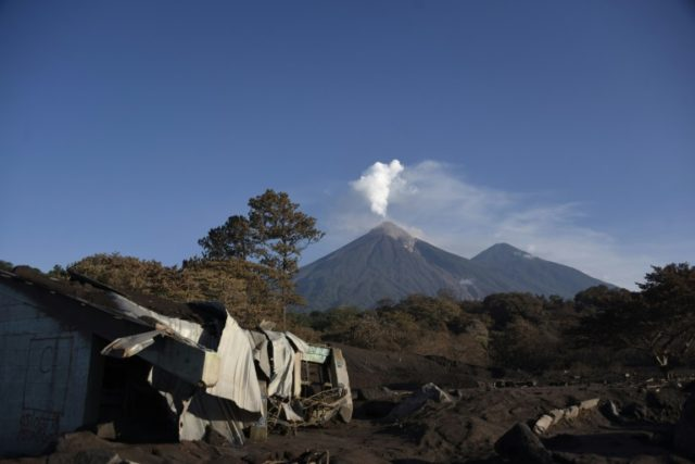 Guatemala's Fuego Volcano is seen emitting plumes of ash on June 11