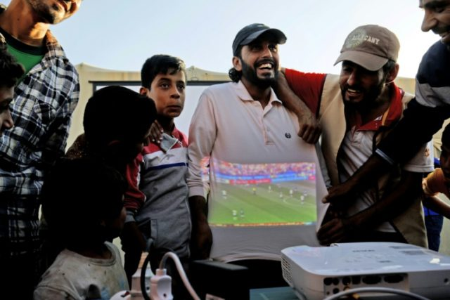 A local charity is screening all World Cup matches for free at the Ain Issa camp