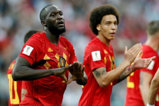 Romelu Lukaku celebrates after scoring against Panama