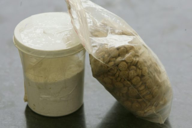 """Captagon, whose trade has flourished in the chaos of the Syrian war, is an amphetamine-type stimulant often referred to as the """"jihadist"""" drug"""