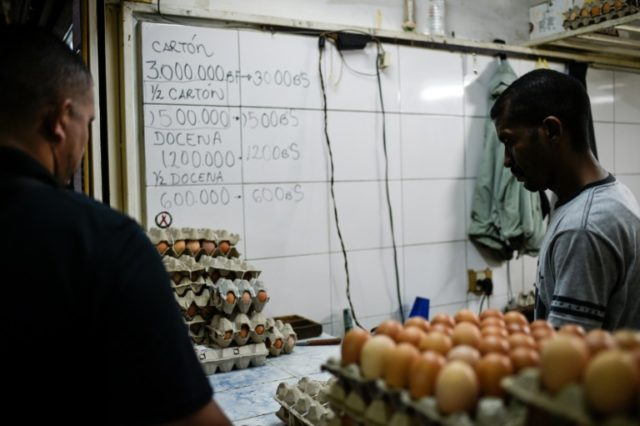 In inflation-ravaged Venezuela, eggs are beyond the reach of many consumers