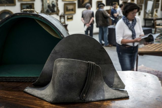 """A """"bicorne"""" hat thought to have belonged to Napoleon will be sold at auction in Lyon, France, on Monday"""