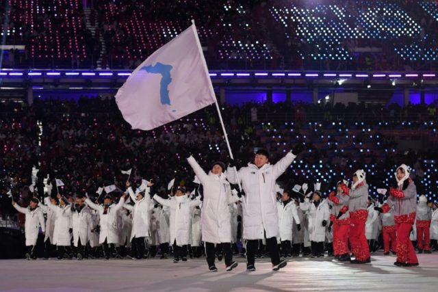Athletes from the two Koreas marched together at the Winter Olympics this year