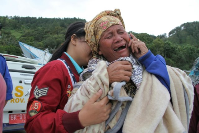 Search and rescue teams are racing against time to search for 65 people after a boat capsized in Indonesia