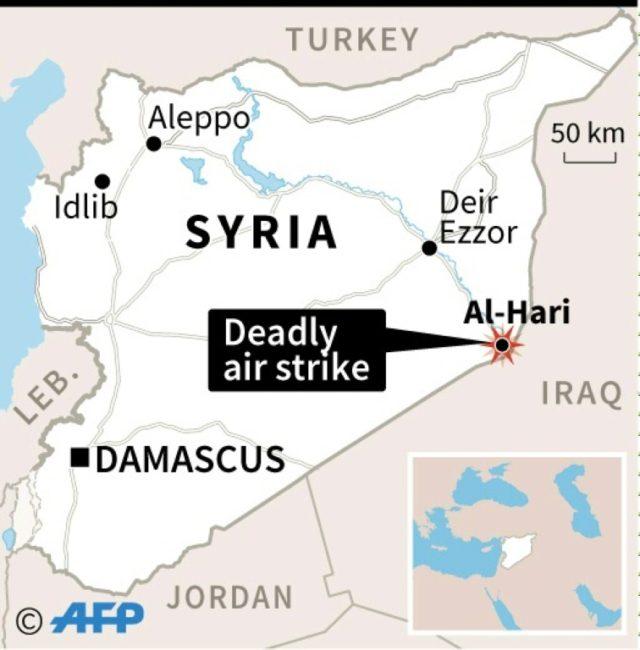 Dozens of pro-regime fighters killed in east Syria strike