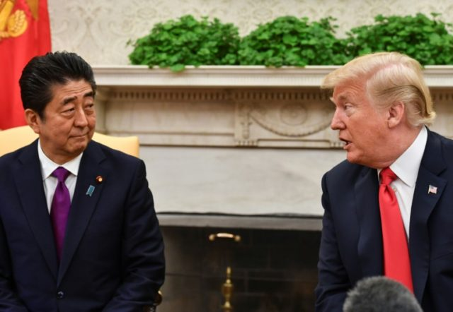 """At one point Trump described migration as a big problem for Europe then said to Abe: """"Shinzo, you don't have this problem, but I can send you 25 million Mexicans and you'll be out of office very soon,"""" according to an official quoted by the Journal"""