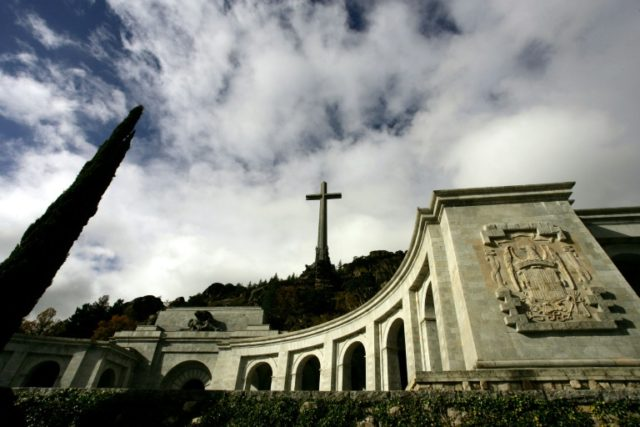 The massive Valley of the Fallen mausoleum near Madrid, where the remains of former Spanish dictator Franco rest