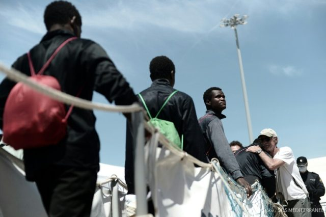 The migrants, most of them from Africa, landed in Spain at the weekend after more than a week at sea