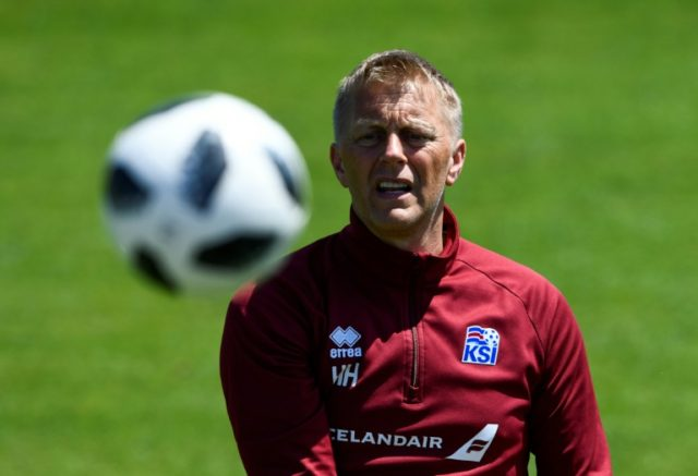 Iceland coach Heimir Hallgrimsson and his players boosted by comedians' visit