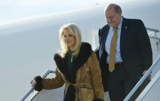 White House Deputy Chief of Staff Joe Hagin (R) -- shown with Trump advisor Kellyanne Conway stepping off Air Force One in December 2017 -- is the latest member of the Trump administration to depart