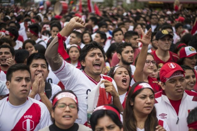 Peruvian football fans have turned up at the World Cup in their thousands