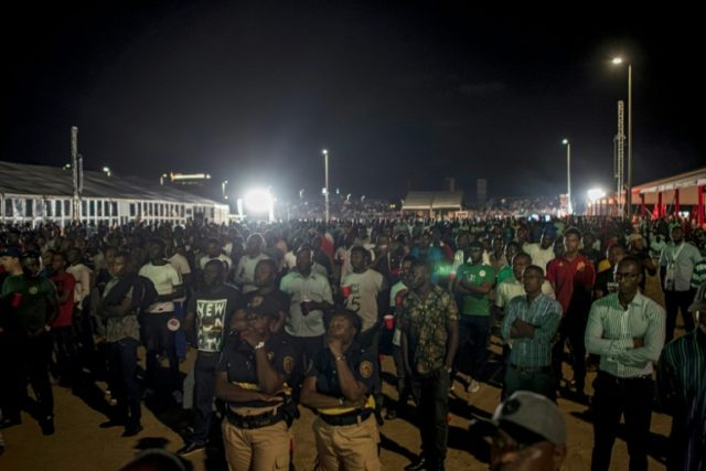 Football-mad Nigerians gather at a fan zone in Lagos to watch their national team play