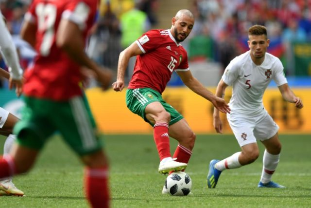 Nordin Amrabat played the entirety of Morocco's match against Spain despite suffering concussion five days before