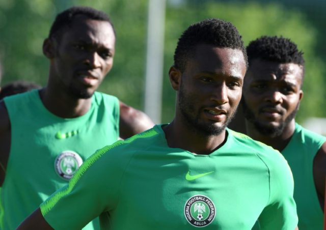 Nigeria train ahead of their match with Iceland