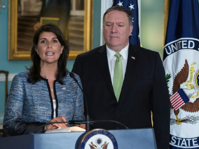 Diplomats from around the world criticised the US withdrawal from the UN Human Rights Council, announced by US Secretary of State Mike Pompeo and US Ambassador to the United Nations Nikki Haley