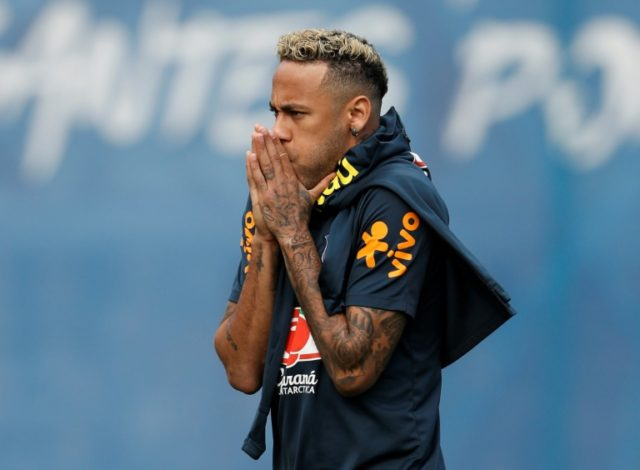 Neymar had hobbled out of Brazil training on Tuesday