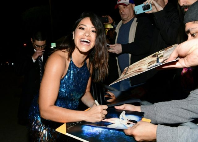 Actress Gina Rodriguez -- shown here at the February premiere of her film 'Annihilation' -- has asked her show's producers to put her Emmys campaign money to a different cause