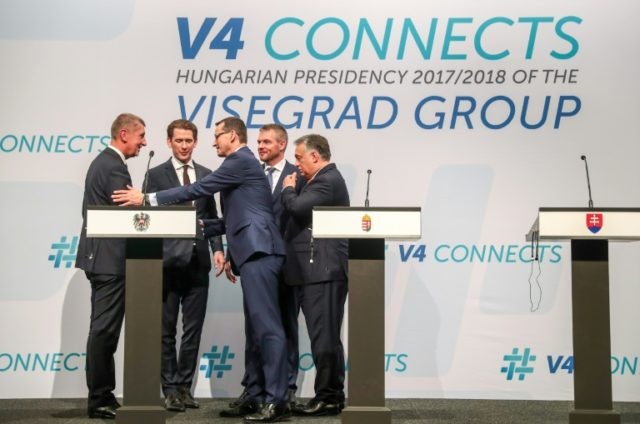 The leaders of the four central European Visegrad states were joined at the summit by Austrian Chancellor Sebastian Kurz