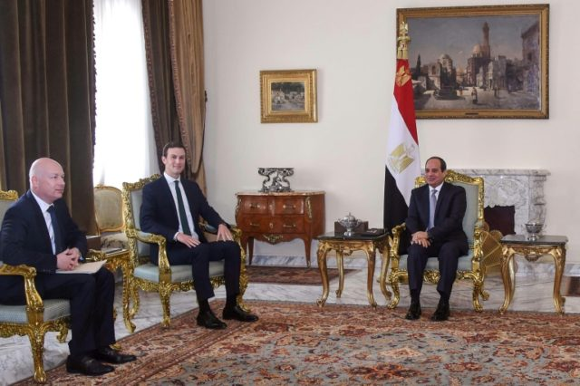 Kushner, Egypt's Sisi discuss Israel-Palestinian peace process