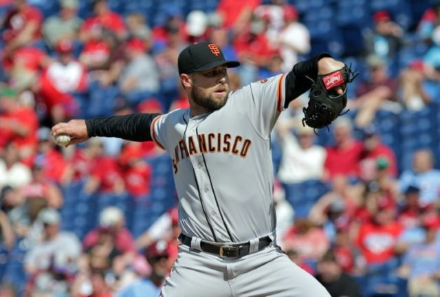 Hunter Strickland of the San Francisco Giants smashed his right hand into a door after failing to close out victory against the Miami Marlins as the Giants slipped to a 5-4 loss