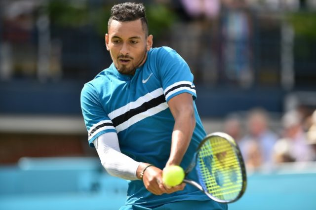 Australia's Nick Kyrgios smashed 32 aces to defeat Kyle Edmund at Queen's
