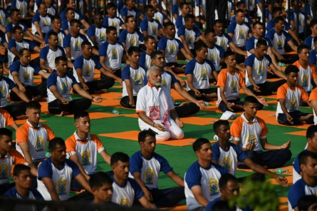 Indian Prime Minister Narendra Modi, whose proposal for the global event won UN approval in 2014, led the way, performing his asanas with over 50,000 others in the northern city of Dehradun