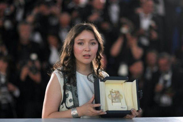 "Kazakh actress Samal Yeslyamova won international acclaim for her wrenching portrayal of a Central Asian single mother struggling for survival in Russia in Sergei Dvortsevoi's film ""Ayka"""