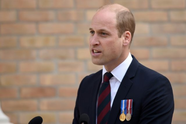 Prince William speaking in Nottinghamshire, Britain, on June 21, 2018